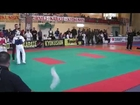 Gym Fist and Kick-IKO Kyokushinkai Karate IKO Galizia Cup 2014 Halbfinale 12-13J -45kg Emir