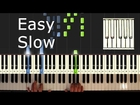 Last Christmas - Wham - SLOW Piano Tutorial Easy - How To Play