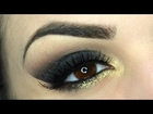 Smokey Eyes nero e oro brillante - Makeup Tutorial Veloce