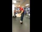 Balance Exercise with Small Medicine Ball at Loggerhead Fitness, Juno Beach, FL
