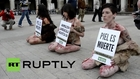 Spain: Naked protesters challenge the fur industry