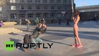 Germany: Swiss artist stages naked protest in Cologne after NYE assaults