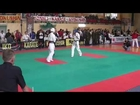 Gym Fist and Kick-IKO Kyokushinkai Karate IKO Galizia Cup 2014 Halbfinale 16-17J -65kg Tugkan
