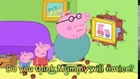 Peppa Pig Daddy Puts up a Picture with subtitles