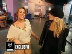 Trish Stratus & Mickie James Backstage After NYR 2006
