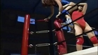 Female over the knee backbreaker. Backbreaker wrestling submission. Japan female wrestling