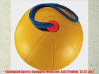 Champion Sports Equipped Medicine Ball (Yellow 13.22 Lbs)