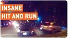 Insane Hit and Run   SUV Hits Pedestrian